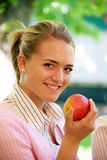 Women on the fruit market Royalty Free Stock Photos