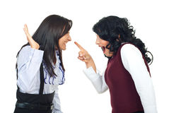Women in funny confrontation Royalty Free Stock Photo