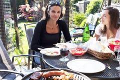 Women in the garden Stock Image