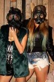 Women with gasmasks Royalty Free Stock Photo