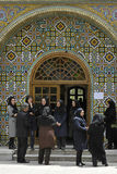 Women gathered at the praying room gate Stock Photos