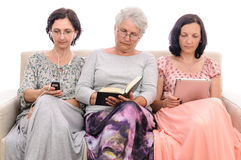 Women generations different free time activities Royalty Free Stock Photos