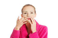 Women getting facial mask Stock Photo