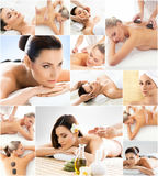 Women getting spa treatment. Health, medicine and recreation col Royalty Free Stock Photography