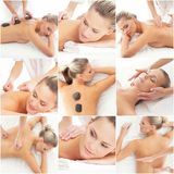 Women getting spa treatment. Royalty Free Stock Images