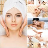 Women getting spa treatment. Stock Images