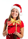 Women with the gift Royalty Free Stock Photo