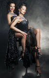 Women girlfriends hugging. Desire. Passion Royalty Free Stock Images