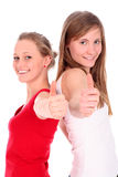 Women giving OK gesture Royalty Free Stock Photography