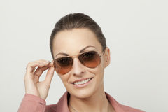 Women with glasses Royalty Free Stock Photos