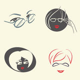 Women with glasses Stock Image