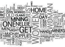 Women Of The Gold Rush Era Not Told To Stay Homeword Cloud Royalty Free Stock Photography