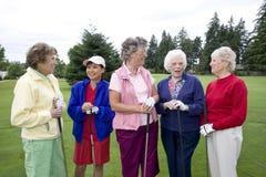 Women Golfers royalty free stock photos