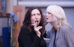 Women Gossip During a Smoking Break Stock Photos