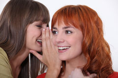 Women gossiping Royalty Free Stock Photo
