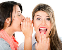 Women gossiping Royalty Free Stock Images