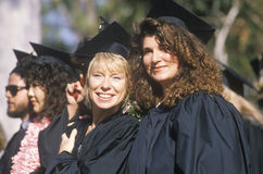 Women graduates from UCLA Stock Photography