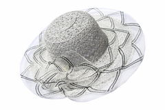 Women gray color hat Royalty Free Stock Images