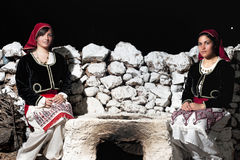 Women with Greek traditional wear Stock Image