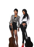Women with guitars Royalty Free Stock Photo