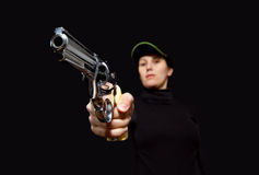 Women with gun Stock Images