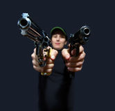 Women with gun Royalty Free Stock Photos