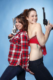 Women with guns Stock Images