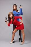 Women with guns Stock Photo