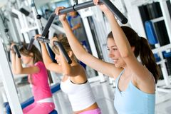 Women at the gym Stock Photo
