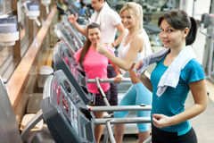 Women in gym Stock Images