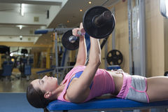 Women in gym Royalty Free Stock Image
