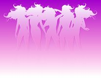 Women Hair Silhouettes Stock Image