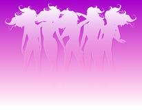 Women Hair Silhouettes Stock Image