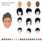 Women haircut styles, short hair Stock Photography