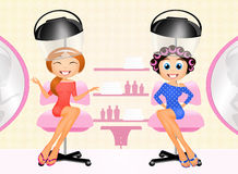 Women at the hairdresser Stock Image