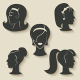 Women hairstyle icons Stock Image