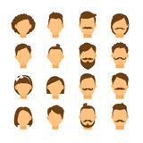 Women hairstyle and men hair style hipster Royalty Free Stock Photos