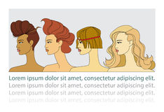 Women with  hairstyles Royalty Free Stock Photography