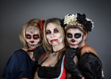 Women in Halloween costume Royalty Free Stock Image