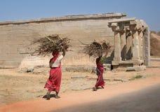 Women in Hampi. Karnataka, India Royalty Free Stock Photo