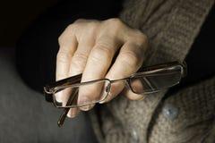 Women hand hold glasses Stock Images