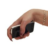 Women hand holding mobile phone isolated Royalty Free Stock Photography