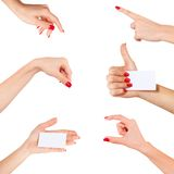 Women hand isolated on white background Royalty Free Stock Photos