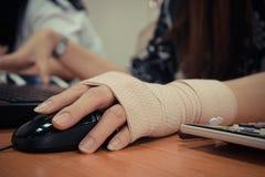 Women hand sore working Royalty Free Stock Image