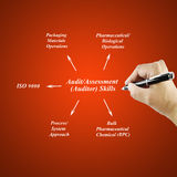Women hand writing Audit/Assessment(Auditor) Skill for business concept. (Training and Presentation Stock Photo