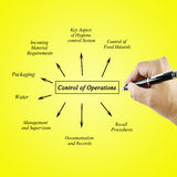 Women hand writing Control Operator Systems for use in manufacturing and business concept Royalty Free Stock Photography