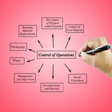 Women hand writing Control Operator Systems for use in manufacturing and business concept Royalty Free Stock Photo