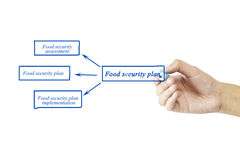 Women hand writing element of Food security plan for business co Royalty Free Stock Photo