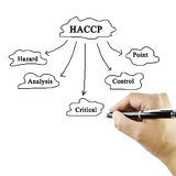 Women hand writing meaning of HACCP concept (Hazard Analysis of Royalty Free Stock Photography