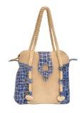 Women handbag. Women sea style handbag with slider on white royalty free stock images